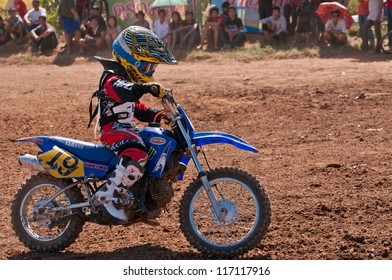 CHIANGKHAN, THAILAND - OCTOBER 28: Unidentified riders participate in competition Supercross Championship of Thailand, on October 28, 2012 in Chiangkhan,Loei,Thailand