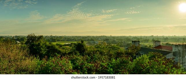Chiangmai panorama view at morning, Thailand.