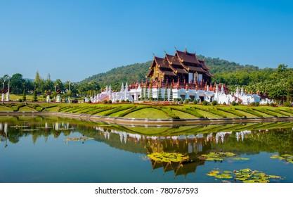 Chiangmai Province Thailand December 24, 2017,Ho Kham Luang at Royal Park Rajapruek in Chiang Mai,Thailand.