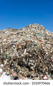 CHIANGMAI PROVINCE, THAILAND-DECEMBER 25 2017, Waste from household in waste landfill. Waste disposal in dumping site in THAILAND