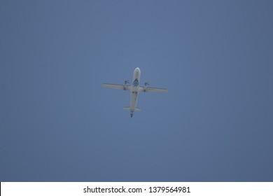 Chiangmai, Thailand - April 24 2019:  HS-PZC ATR72-600 of Bangkok Airway. Flight for  Chiangmai airport and Luang Prabang.