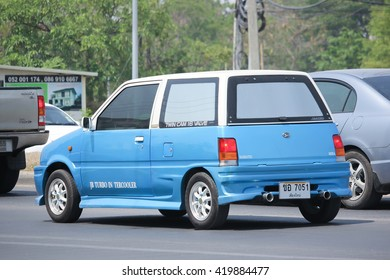 CHIANGMAI, THAILAND -APRIL 26 2016: Private car, Daihatsu Mira. Photo at road no 121 about 8 km from downtown Chiangmai, thailand.