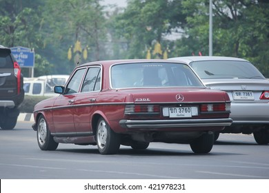 CHIANGMAI, THAILAND -APRIL 29 2016: Private old car of Mercedes-Benz 230E.  Photo at road no 121 about 8 km from downtown Chiangmai, thailand.