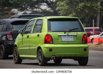 Chiangmai, Thailand - April 30 2019: Private car, Chery QQ. On road no.1001, 8 km from Chiangmai city.