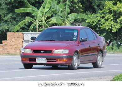 CHIANGMAI, THAILAND -AUGUST 10 2015:  Private car, Toyota Corona. Photo at road no 121 about 8 km from downtown Chiangmai, thailand.