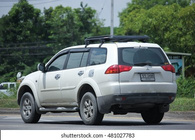 CHIANGMAI, THAILAND -AUGUST 10 2016: Mitsubishi Pajero Suv Car. On road no.1001, 8 km from Chiangmai city.
