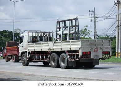 CHIANGMAI, THAILAND -AUGUST 13 2015:  Grass truck Transport of Tangnam Glass Product Company.  Photo at road no.121 about 8 km from downtown Chiangmai, thailand.