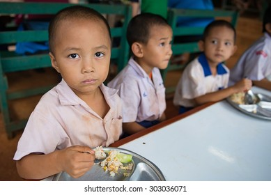 CHIANGMAI, THAILAND - August 3, 2015:School for Life Chiang Mai Unidentified orphan students on in Mission School School for Life Chiang Mai, population are orphans, due to HIV / AIDS.