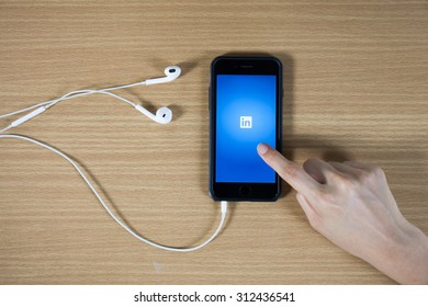 CHIANGMAI, THAILAND -August 31, 2014: LinkedIn is a social networking website for people in professional occupations.