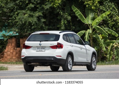 Chiangmai, Thailand - August  7 2018: Private Car. Bmw X1. Photo at road no.1001 about 8 km from downtown Chiangmai, thailand.