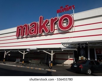 CHIANGMAI, THAILAND -DECEMBER 14 2015: Makro Hypermarket Chiang mai. Location on road chiangmai Lampang road about 4 km from city.