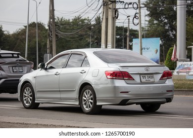 Chiangmai, Thailand - December 18 2018: Private car Toyota Camry. On road no.1001 8 km from Chiangmai Business Area.