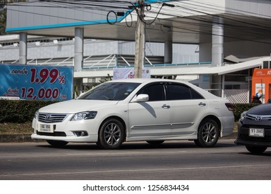 Chiangmai, Thailand - December 3 2018: Private car Toyota Camry. On road no.1001 8 km from Chiangmai Business Area.