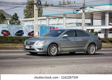Chiangmai, Thailand - December 4 2018: Private car Toyota Camry. On road no.1001 8 km from Chiangmai Business Area.