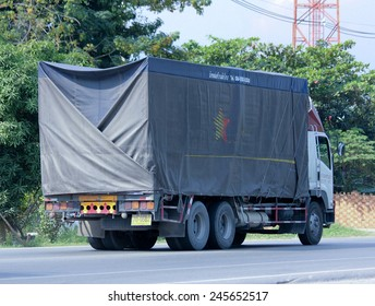 CHIANGMAI, THAILAND - DECEMBER  9 2014: Somchai logistic (Northstar) truck. Photo at road no 121 about 8 km from downtown Chiangmai, thailand.
