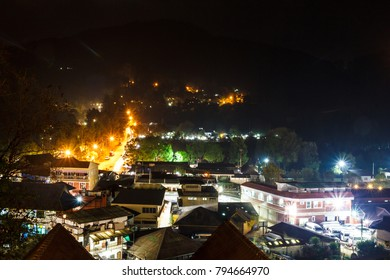 Chiangmai, Thailand- February 12,2017 : Village at Angkhang view from high.