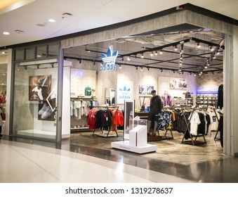 Chiangmai, Thailand - February 21 2019: Adidas shop In Central Festival Chiang mai. New Business Plaza of Chiangmai. About 3 Km. from Chiangmai City, Thailand.
