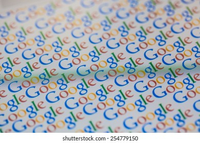 CHIANGMAI, THAILAND -FEBRUARY 22, 2015: Google is an American multinational corporation specializing in Internet-related services and products. Most of its profits are derived from AdWords.