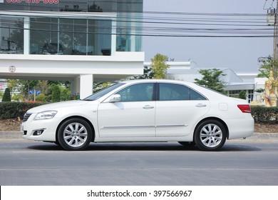 CHIANGMAI, THAILAND -FEBRUARY 25 2016:  Private car, Toyota Camry. On road no.1001, 8 km from Chiangmai city.