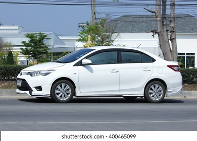 CHIANGMAI, THAILAND -FEBRUARY 29 2016:  Private car, Toyota Vios. Photo at road no.121 about 8 km from downtown Chiangmai, thailand.