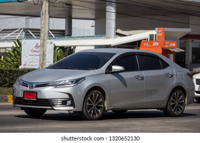 Chiangmai, Thailand - February 4 2019: Private car, Toyota Corolla Altis. Eleventh generation. On road no.1001, 8 km from Chiangmai city.