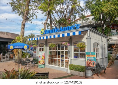 Chiangmai - Thailand, Jan 3, 2019: Auntie Anne's is an American chain of pretzel shops. Auntie Anne's Outlet in kad FaRang Village. - Image