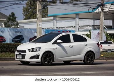 Chiangmai, Thailand - January 14 2019: Private car, Chevrolet sonic. Photo at road no.121 about 8 km from downtown Chiangmai, thailand.