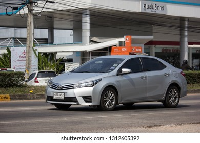 Chiangmai, Thailand - January 22 2019: Private car, Toyota Corolla Altis. Eleventh generation. On road no.1001, 8 km from Chiangmai city.