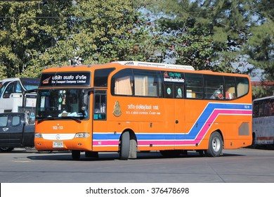CHIANGMAI, THAILAND -JANUARY 23 2016:  Cargo Express Bus of The Transport Company Limited. Photo at Chiangmai bus station, thailand.