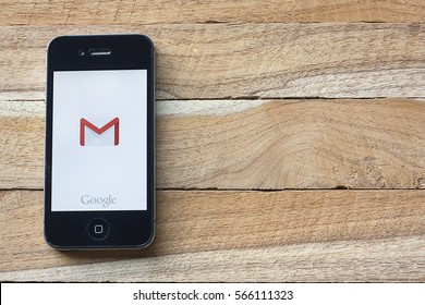 CHIANGMAI, Thailand - January 28,2017: Smart phone displaying Gmail application.