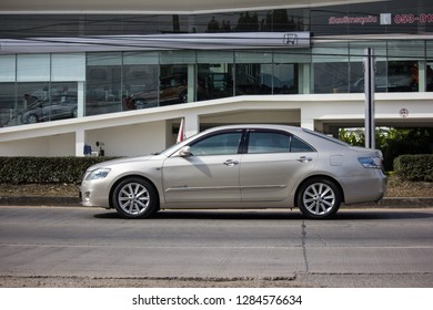 Chiangmai, Thailand - January 3 2019: Private car Toyota Camry. On road no.1001 8 km from Chiangmai Business Area.