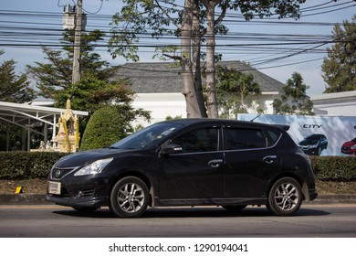 Chiangmai, Thailand - January 4 2019: Private car, Nissan Pulsar. Photo at road no 121 about 8 km from downtown Chiangmai, thailand.