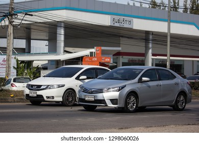 Chiangmai, Thailand - January 4 2019: Private car, Toyota Corolla Altis. Eleventh generation. On road no.1001, 8 km from Chiangmai city.