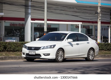 Chiangmai, Thailand - January 4 2019:  Private car Honda accord. On road no.1001 8 km from Chiangmai Business Area.