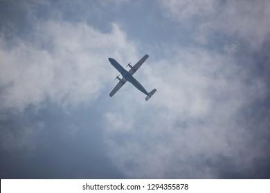 Chiangmai, Thailand - January 7 2019:  HS-PGM ATR72-500 of Bangkok Airway. Flight for  Chiangmai airport and Mae hong son.