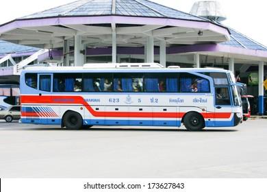 CHIANGMAI /  THAILAND - July 12 2008 :  Vintour company bus route Phitsanulok  and Chiangmai. Photo at New Chiangmai bus station, thailand.