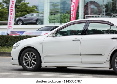 Chiangmai, Thailand - July  19 2018: Private car Toyota Camry. On road no.1001 8 km from Chiangmai Business Area.