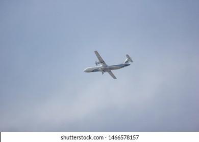 Chiangmai, Thailand - July 19 2019:   HS-PZB ATR72-600 of Bangkok Airway. Flight for  Chiangmai airport and Yangon.