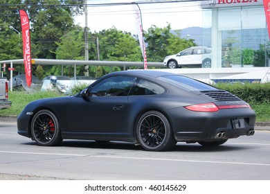 CHIANGMAI, THAILAND -JULY 26 2016:  Private car, Porsche carrera 4s. On road no.1001, 8 km from Chiangmai Business Area.