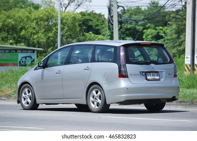 CHIANGMAI, THAILAND -JULY 27 2016:  Private car, Mitsubishi Space Wagon.  On road no.1001, 8 km from Chiangmai Business Area.