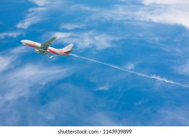 Chiangmai, Thailand - July 27 2018: SL8502 Boeing 737-300 of Lion air. For Flight  Bangkok Don Muang Airport and Chiangmai airport, Thailand.