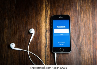 CHIANGMAI, THAILAND -JUNE 05, 2015:Facebook is an online social networking service founded in February 2004 by Mark Zuckerberg with his college roommates and is now a fortune 500 company.