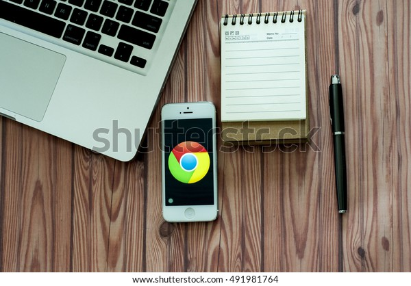 CHIANGMAI, THAILAND -JUNE 05, 2016:Google is an American multinational corporation specializing in Internet-related services and products including Google Map, Google Cloud, Google Play, Google Chrome