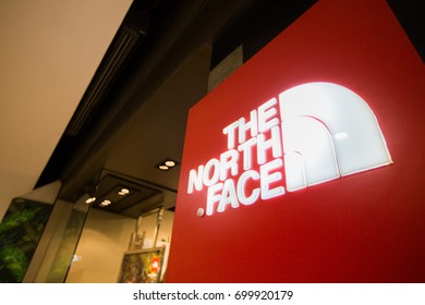 CHIANGMAI, THAILAND - JUNE 16, 2017:  The North Face store; The North Face, Inc. is an American outdoor product company, their products could be found in over 3,500 locations across the globe.