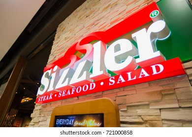 Chiangmai, Thailand - June 16 ,2017: Sizzler shop sign, This branch is located in Central Festival Chiangmai