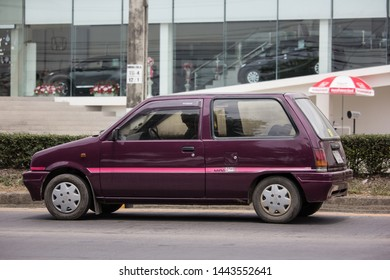 Chiangmai, Thailand - June 25 2019: Private Small city car, Daihatsu Mira. Photo at road no 121 about 8 km from downtown Chiangmai, thailand.