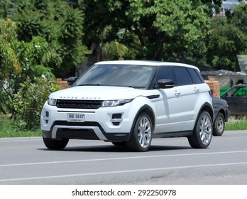 CHIANGMAI , THAILAND -JUNE 29 2015: Private Range Rover car. Suv Car from Land Rover.  Photo at road no.121 about 8 km from downtown Chiangmai, thailand.