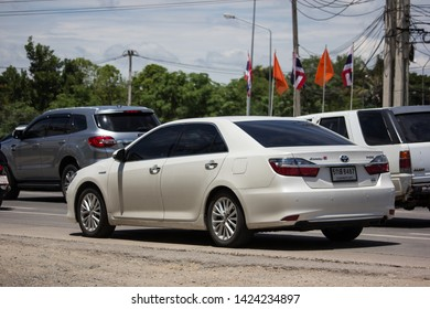 Chiangmai, Thailand - June 4 2019: Private car Toyota Camry. On road no.1001 8 km from Chiangmai Business Area.