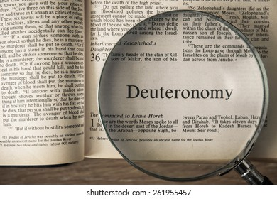 """CHIANGMAI, THAILAND, March 17,2015. Reading The New International Version of the Holy Bible on the book of """" deuteronomy """" at home. March 17,2015"""