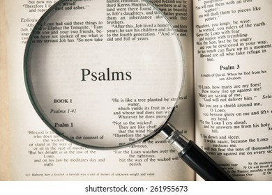 """CHIANGMAI, THAILAND, March 17,2015. Reading The New International Version of the Holy Bible on the book of """" psalms """" at home. March 17,2015"""